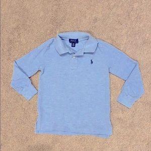 Polo Ralph Lauren long sleeve sky blue shirt 3T